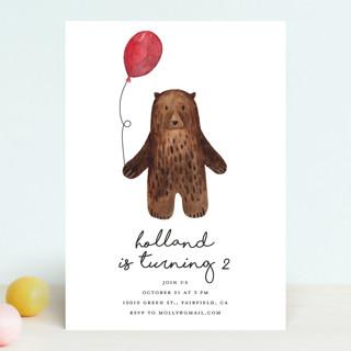 Bear Children's Birthday Party Invitations