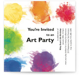 Artist&#039;s Palette Children&#039;s Birthday Party Invitations