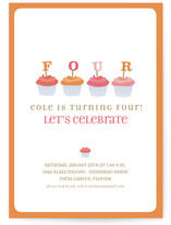 Cupcake Children's Birthday Party Invitations