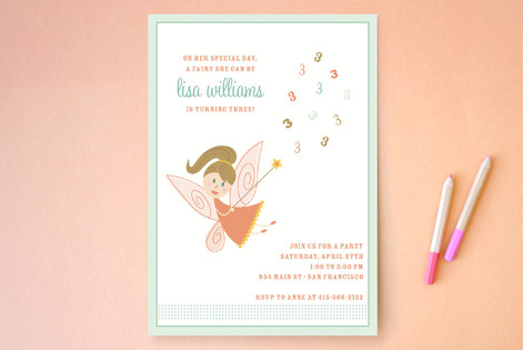 fairy Children's Birthday Party Invitations
