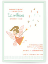 fairy Children&#039;s Birthday Party Invitations