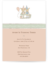 Bunny Children's Birthday Party Invitations