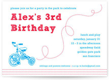 Bicycles in the Park Children's Birthday Party Invitations