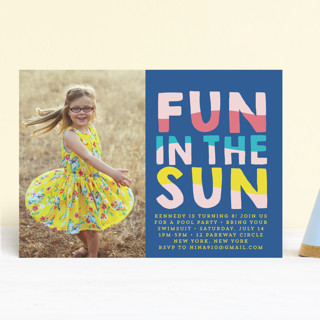 Fun Sun Children's Birthday Party Invitations