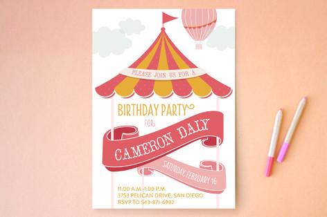 Circus Adventure Children's Birthday Party Invitations