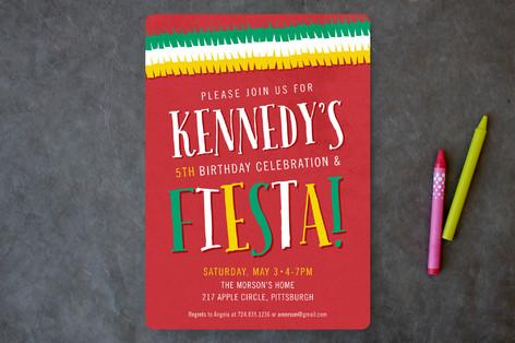 Fiesta Birthday Children's Birthday Party Invitations