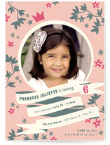 Princess Crown Children&#039;s Birthday Party Invitations