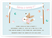 Fox Festive Children's Birthday Party Invitations