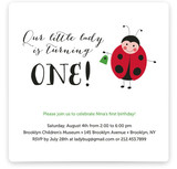 Little Ladybug Children&#039;s Birthday Party Invitations