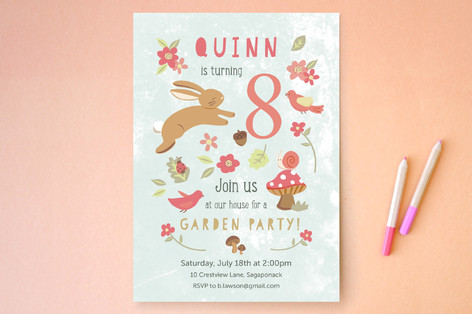Foresta Children's Birthday Party Invitations