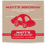 Cars Children's Birthday Party Invitations
