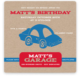Cars Children&#039;s Birthday Party Invitations