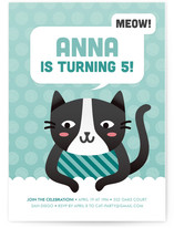 Cat&#039;s Meow Children&#039;s Birthday Party Invitations