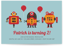 Robot Bleep Bleep Children&#039;s Birthday Party Invitations