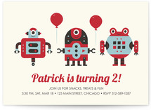 Robot Bleep Bleep Children's Birthday Party Invitations
