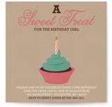Girlie Cakes Children&#039;s Birthday Party Invitations