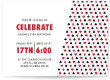 Playing Cards Children&#039;s Birthday Party Invitations
