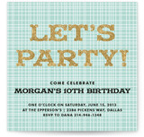 Let&#039;s Get This Party Started Children&#039;s Birthday Party Invitations