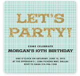 Let's Get This Party Started Children's Birthday Party Invitations