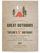 Campsite Children's Birthday Party Invitations