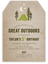 Campsite Children&#039;s Birthday Party Invitations