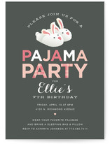 pajama party children s birthday party invitations minted