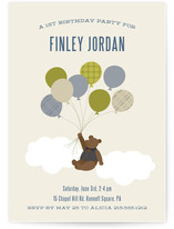 Gentleman Bear Children&#039;s Birthday Party Invitations