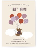 Gentleman Bear Children's Birthday Party Invitations