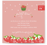Strawberry Love Children&#039;s Birthday Party Invitations