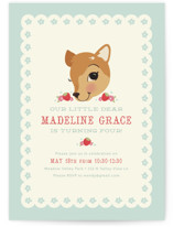 Fancy Fawn Children&#039;s Birthday Party Invitations