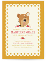 Fancy Fawn Children's Birthday Party Invitations