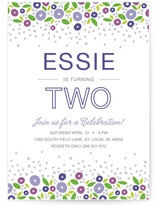 Spring Garden Children's Birthday Party Invitations