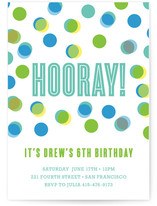 Fun with Color Children's Birthday Party Invitations