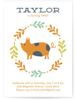 Farm Friends Children&#039;s Birthday Party Invitations