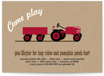 A Tractor Pull Children&#039;s Birthday Party Invitations