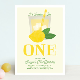 Sweet One Children's Birthday Party Invitations