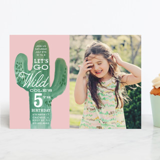 Wild Cactus Children's Birthday Party Invitations