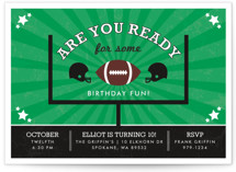 Go Team Children&#039;s Birthday Party Invitations
