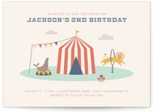 Off to Join the Circus Children's Birthday Party Invitations