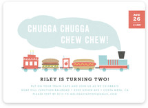Chugga Chew Chew Children's Birthday Party Invitations