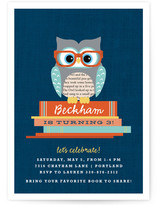 Bookworm Owl Children's Birthday Party Invitations