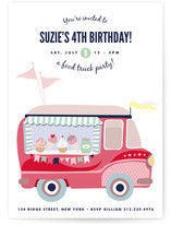 Food Truck Party Children's Birthday Party Invitations
