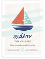 Regatta Race Children's Birthday Party Invitations