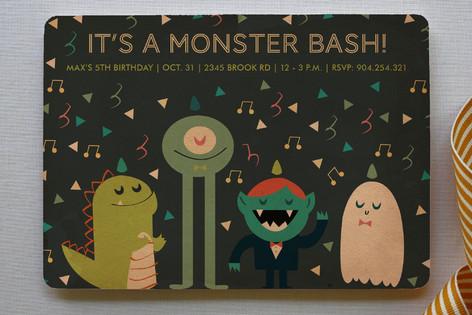 Monstrous Fun Monster Bash Children's Birthday Party Invitations