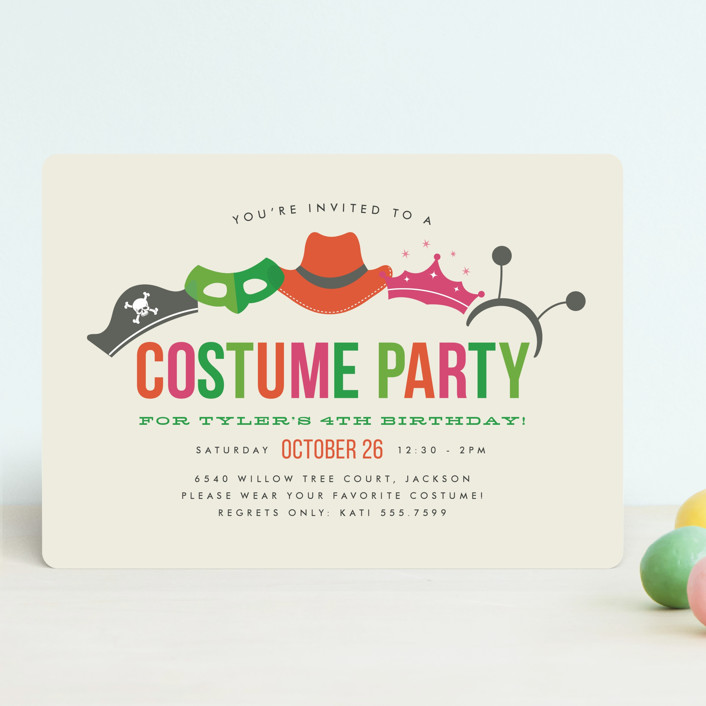 Costume party childrens birthday party invitation minted email a friend stopboris Choice Image