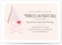 Princess and Pirate Ball Children's Birthday Party Invitations