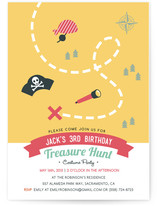 Treasure Hunt Party Children's Birthday Party Invitations
