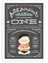 Petit Monsieur Children's Birthday Party Invitations