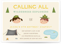Adventure Awaits Children's Birthday Party Invitations