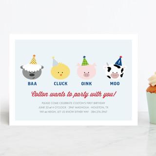 Barnyard Crew Children's Birthday Party Invitations